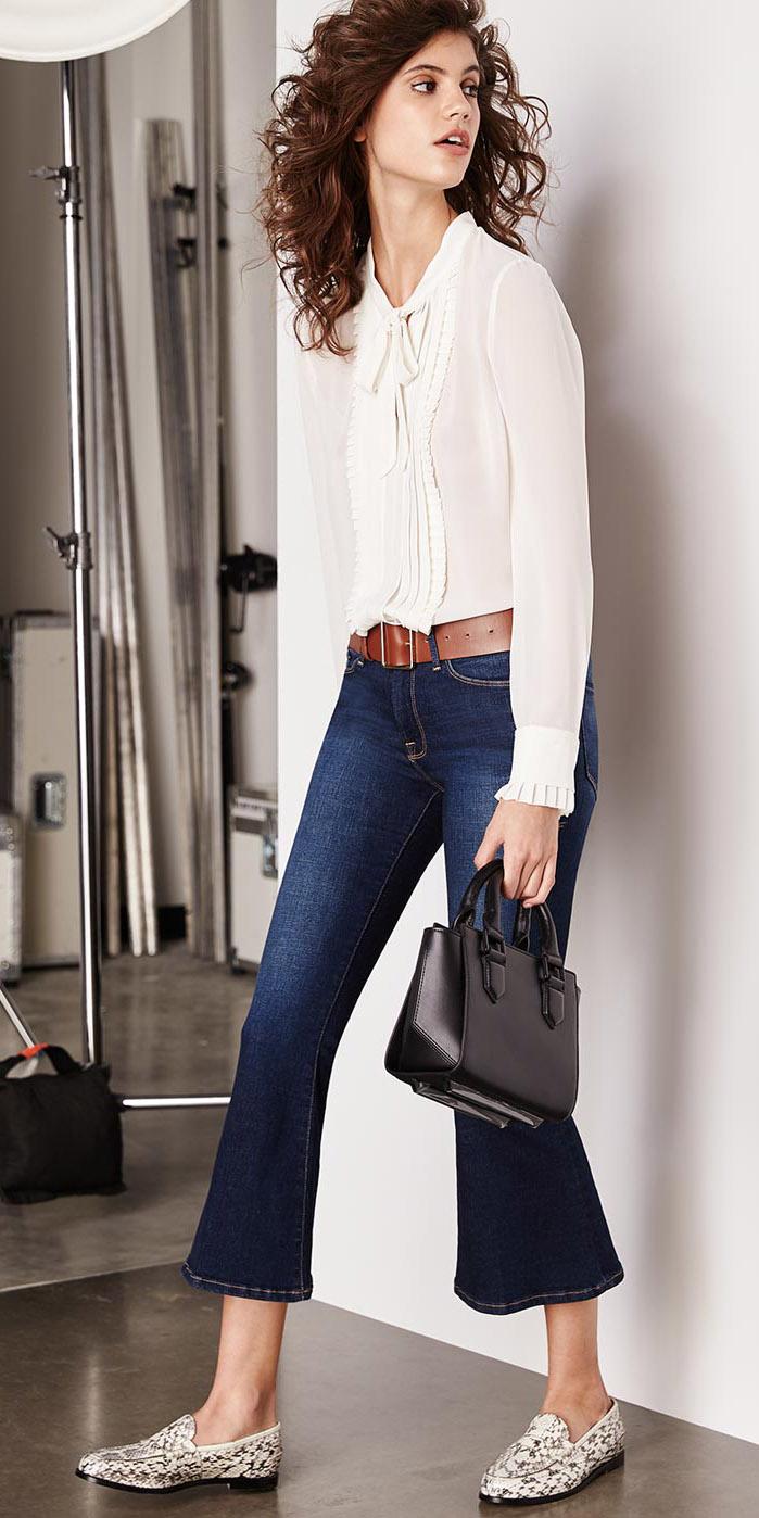 blue-navy-crop-jeans-flare-belt-white-top-blouse-black-bag-white-shoe-loafers-fall-winter-hairr-work.jpg