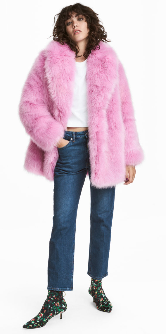 blue-navy-crop-jeans-black-shoe-booties-floral-print-pink-light-jacket-coat-fur-fuzz-fall-winter-hairr-lunch.jpg