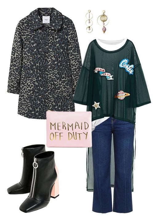 blue-navy-crop-jeans-green-dark-top-sheer-earrings-black-jacket-coat-print-leopard-black-shoe-booties-howtowear-fashion-style-outfit-fall-winter-weekend.jpg