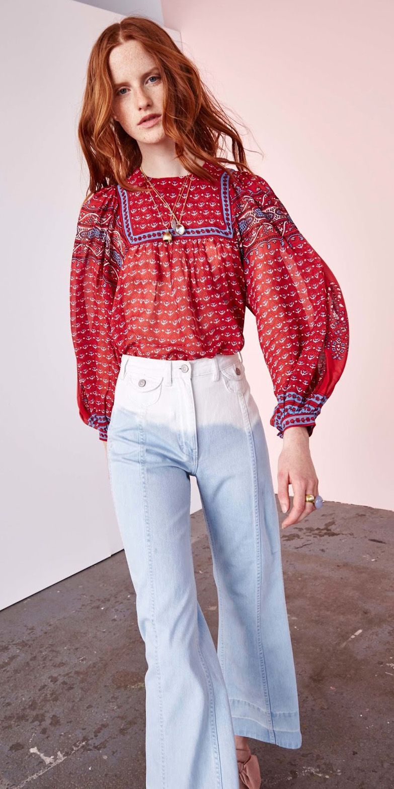 white-crop-jeans-red-top-blouse-peasant-hairr-spring-summer-lunch.jpg