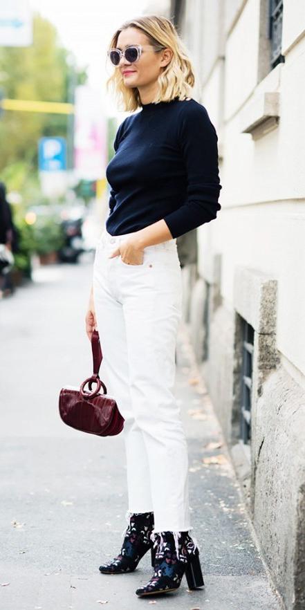 white-crop-jeans-black-sweater-black-shoe-booties-burgundy-bag-hand-sun-blonde-wear-fashion-style-fall-winter-lunch.jpg