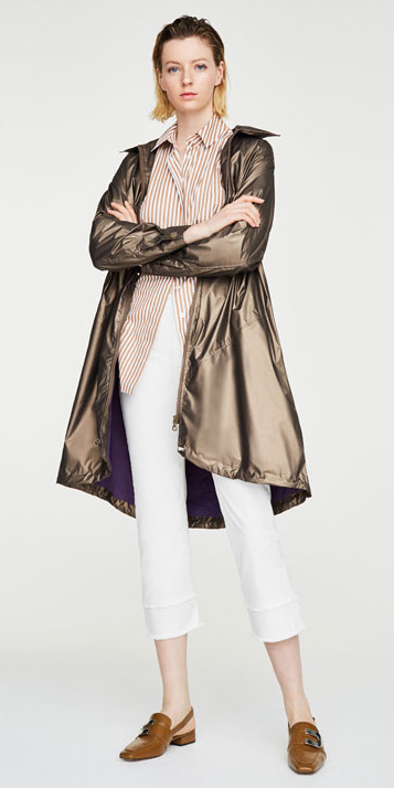 white-crop-jeans-camel-collared-shirt-stripe-blonde-cognac-shoe-loafers-spring-summer-brown-jacket-coat-parka-lunch.jpg