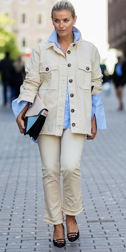white-crop-jeans-blue-light-collared-shirt-white-jacket-jean-black-shoe-pumps-blonde-bun-fall-winter-lunch.jpg