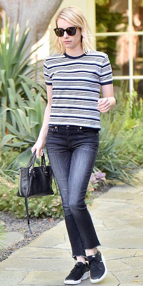 black-crop-jeans-black-tee-stripe-black-shoe-sneakers-black-bag-sun-blonde-emmaroberts-howtowear-fashion-style-spring-summer-weekend.jpg