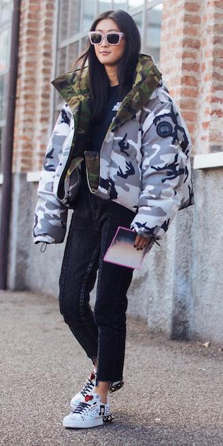 black-crop-jeans-white-shoe-sneakers-camoflauge-print-sun-grayl-jacket-coat-puffer-fall-winter-brun-weekend.jpg