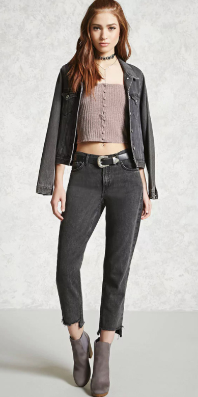 black-crop-jeans-pink-light-cami-black-jacket-jean-choker-belt-gray-shoe-booties-fall-winter-hairr-lunch.jpg