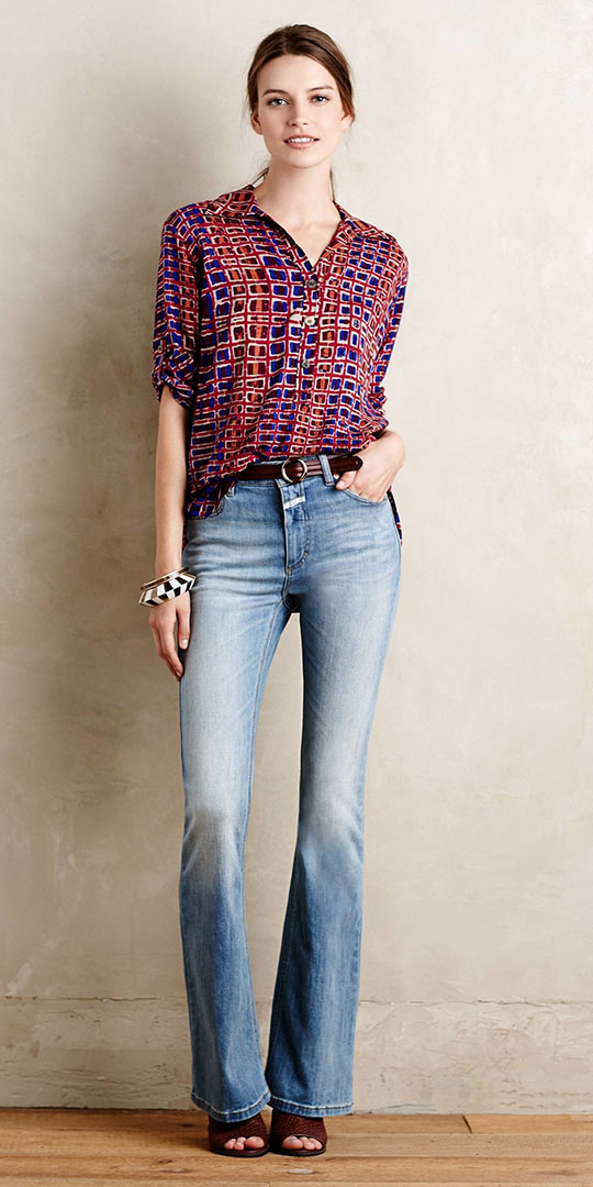 blue-light-flare-jeans-burgundy-top-blouse-print-belt-brown-shoe-sandalh-pony-spring-summer-hairr-lunch.jpeg