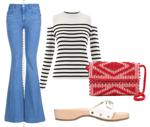 blue-light-flare-jeans-black-tee-stripe-white-shoe-sandals-red-bag-howtowear-fashion-style-outfit-spring-summer-lunch.jpg