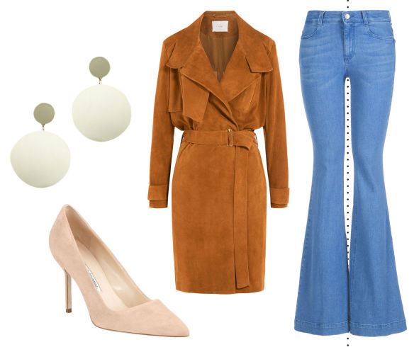 blue-light-flare-jeans-camel-jacket-coat-trench-suede-tan-shoe-pumps-white-earrings-fashion-style-outfit-fall-winter-lunch.jpg