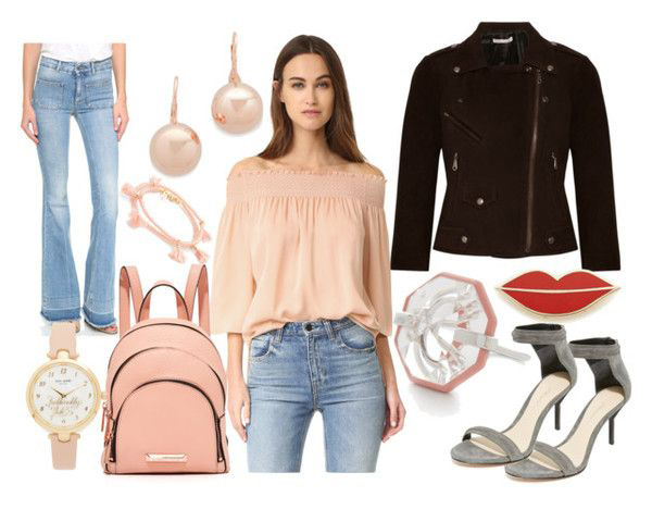 blue-light-flare-jeans-peach-top-blouse-black-jacket-moto-pink-bag-pack-pearl-pink-earrings-gray-shoe-sandalh-watch-spring-summer-hairr-dinner.jpg
