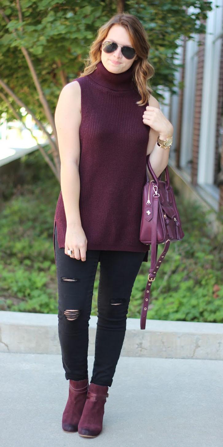 black-skinny-jeans-burgundy-sweater-sleeveless-burgundy-bag-hairr-sun-burgundy-shoe-booties-fall-winter-lunch.jpg