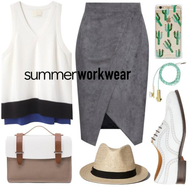 grayd-pencil-skirt-hat-panama-white-sweater-sleeveless-white-shoe-brogues-spring-summer-work.jpg