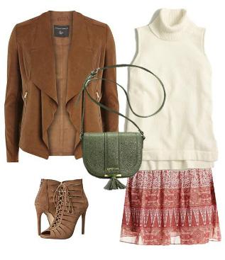 red-mini-skirt-white-sweater-sleeveless-sleeveless-camel-jacket-suede-cognac-shoe-sandalh-green-bag-print-fall-winter-lunch.jpg