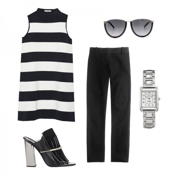 black-slim-pants-black-sweater-sleeveless-white-sweater-sleeveless-black-shoe-sandalh-bold-stripe-sun-watch-spring-summer-work.jpg
