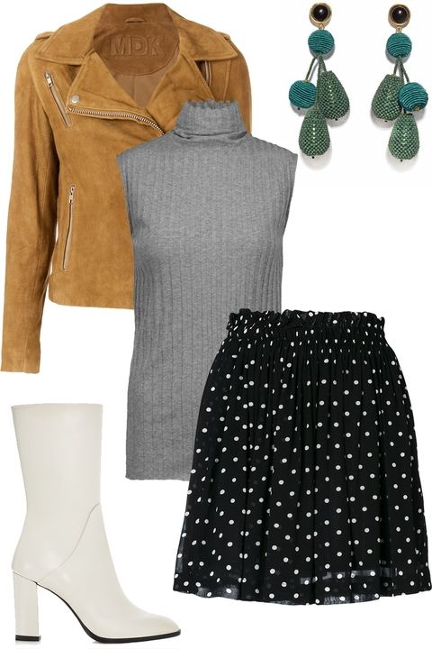 black-mini-skirt-dot-print-grayl-sweater-sleeveless-turtleneck-green-earrings-white-shoe-booties-thanksgiving-outfit-camel-jacket-moto-fall-winter-dinner.jpg