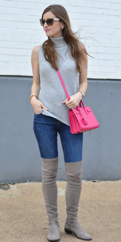 blue-navy-skinny-jeans-gray-shoe-boots-otk-pink-bag-hairr-sun-grayl-sweater-sleeveless-fall-winter-weekend.jpg
