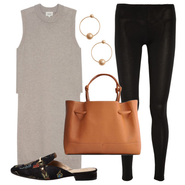 black-leggings-grayl-sweater-sleeveless-tunic-cognac-bag-hoops-black-shoe-loafers-slides-fall-winter-work.jpg
