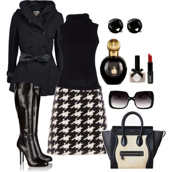 black-mini-skirt-black-sweater-sleeveless-black-jacket-coat-black-shoe-boots-white-bag-studs-sun-houndstooth-fall-winter-dinner.jpg