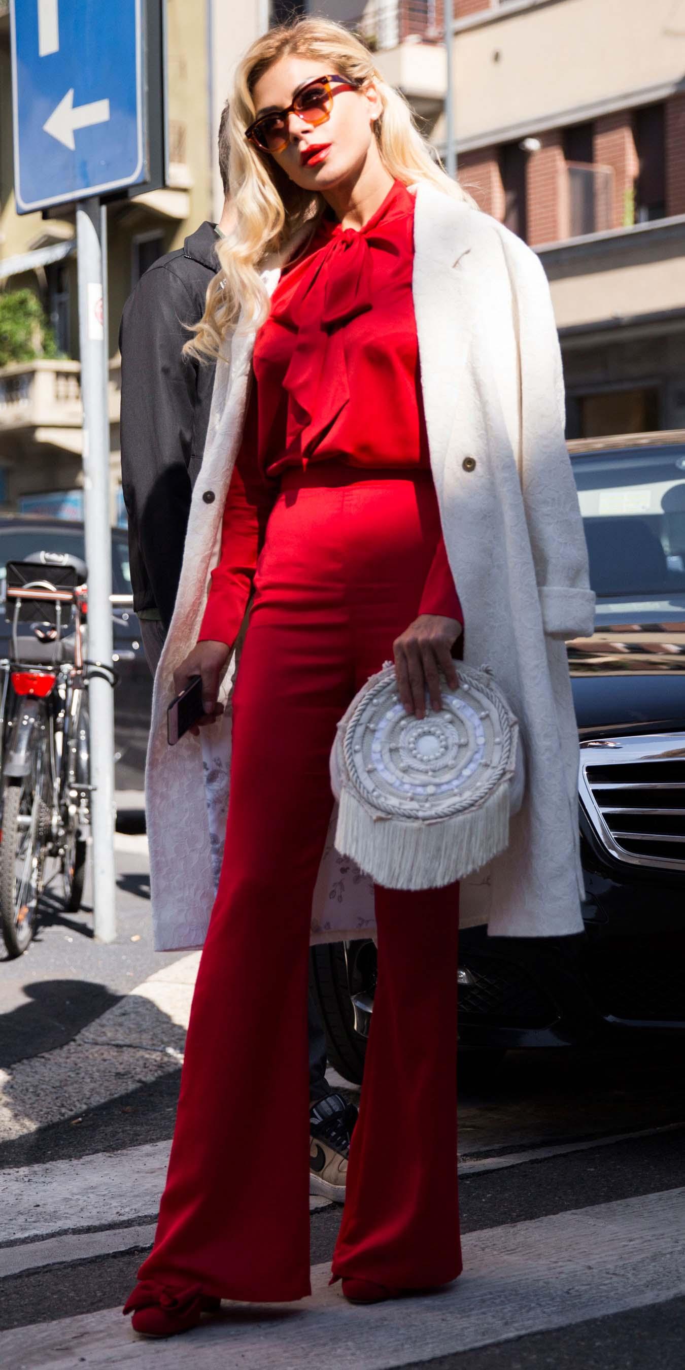 red-wideleg-pants-milan-red-top-blouse-white-bag-red-shoe-pumps-sun-white-jacket-coat-fall-winter-blonde-dinner.jpg
