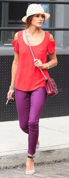 purple-royal-skinny-jeans-red-top-blouse-red-bag-blue-shoe-sandalh-hat-pony-oliviapalermo-howtowear-fashion-style-spring-summer-outfit-hairr-lunch.jpg