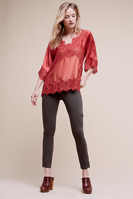 grayd-skinny-jeans-red-top-blouse-peasant-cargo-wear-outfit-fashion-fall-winter-brown-shoe-clogs-lace-gray-blonde-lunch.jpg