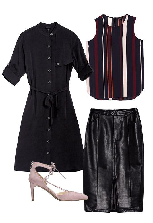 black-pencil-skirt-burgundy-top-stripe-black-jacket-white-shoe-pumps-shirtdressasjacket-howtowear-fall-winter-work.jpg