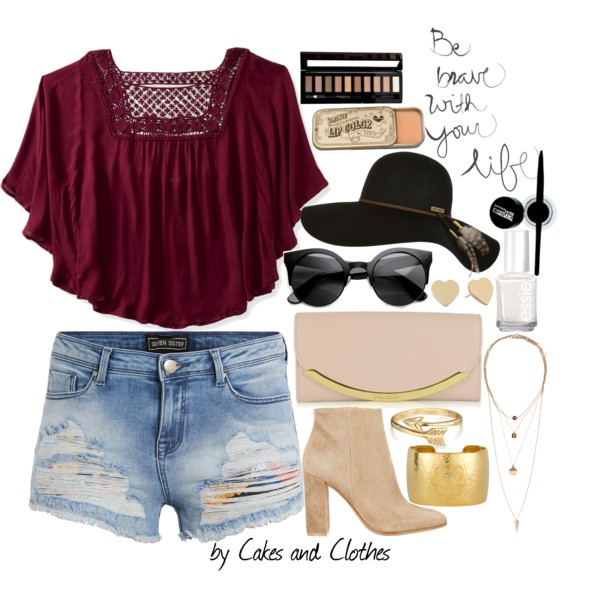 blue-light-shorts-denim-burgundy-top-blouse-peasant-tan-shoe-booties-tan-bag-sun-hat-spring-summer-lunch.jpg