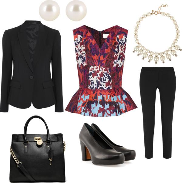 black-slim-pants-burgundy-top-peplum-floral-print-black-jacket-blazer-black-shoe-pumps-bib-necklace-black-bag-studs-pearl-howtowear-fashion-style-outfit-spring-summer-work.jpg