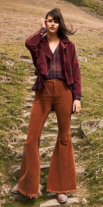 camel-flare-jeans-corduroy-burgundy-top-blouse-plaid-print-burgundy-jacket-moto-fall-winter-brun-weekend.jpg