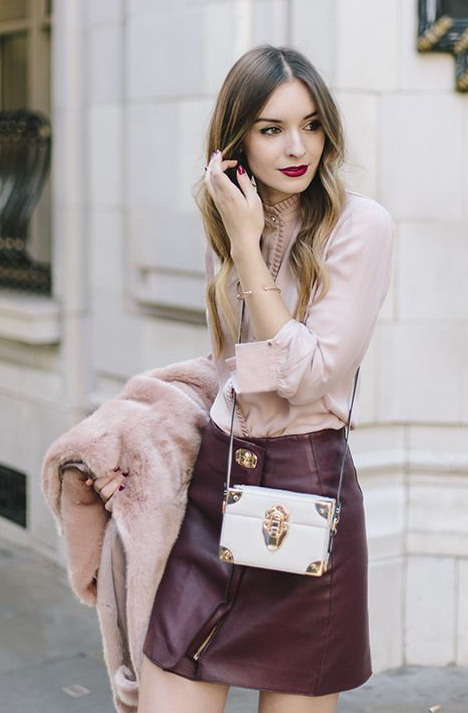 r-burgundy-mini-skirt-pink-light-top-blouse-pink-light-jacket-coat-fur-fuzz-white-bag-howtowear-fashion-style-outfit-fall-winter-leather-hairr-dinner.jpg