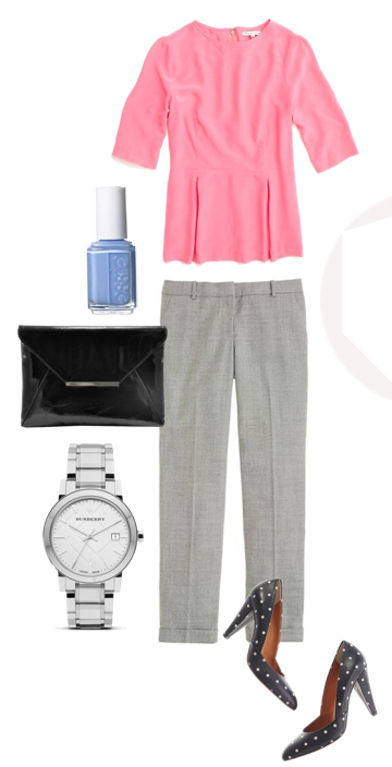 grayl-slim-pants-r-pink-light-top-peplum-black-bag-watch-black-shoe-pumps-nail-howtowear-fashion-style-outfit-spring-summer-work.jpg
