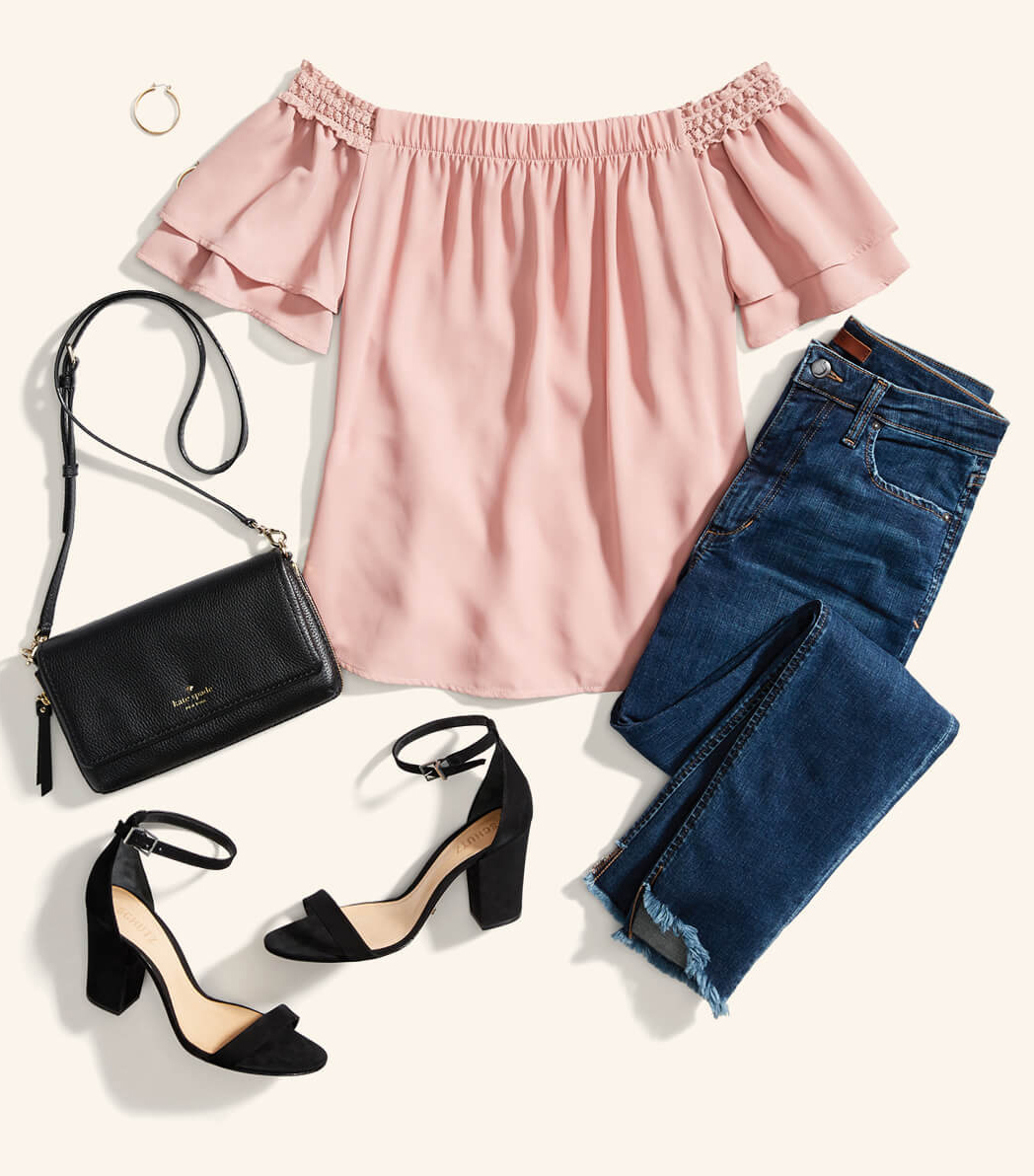blue-med-skinny-jeans-hoops-black-bag-black-shoe-sandalh-pink-light-top-offshoulder-spring-summer-dinner.jpg