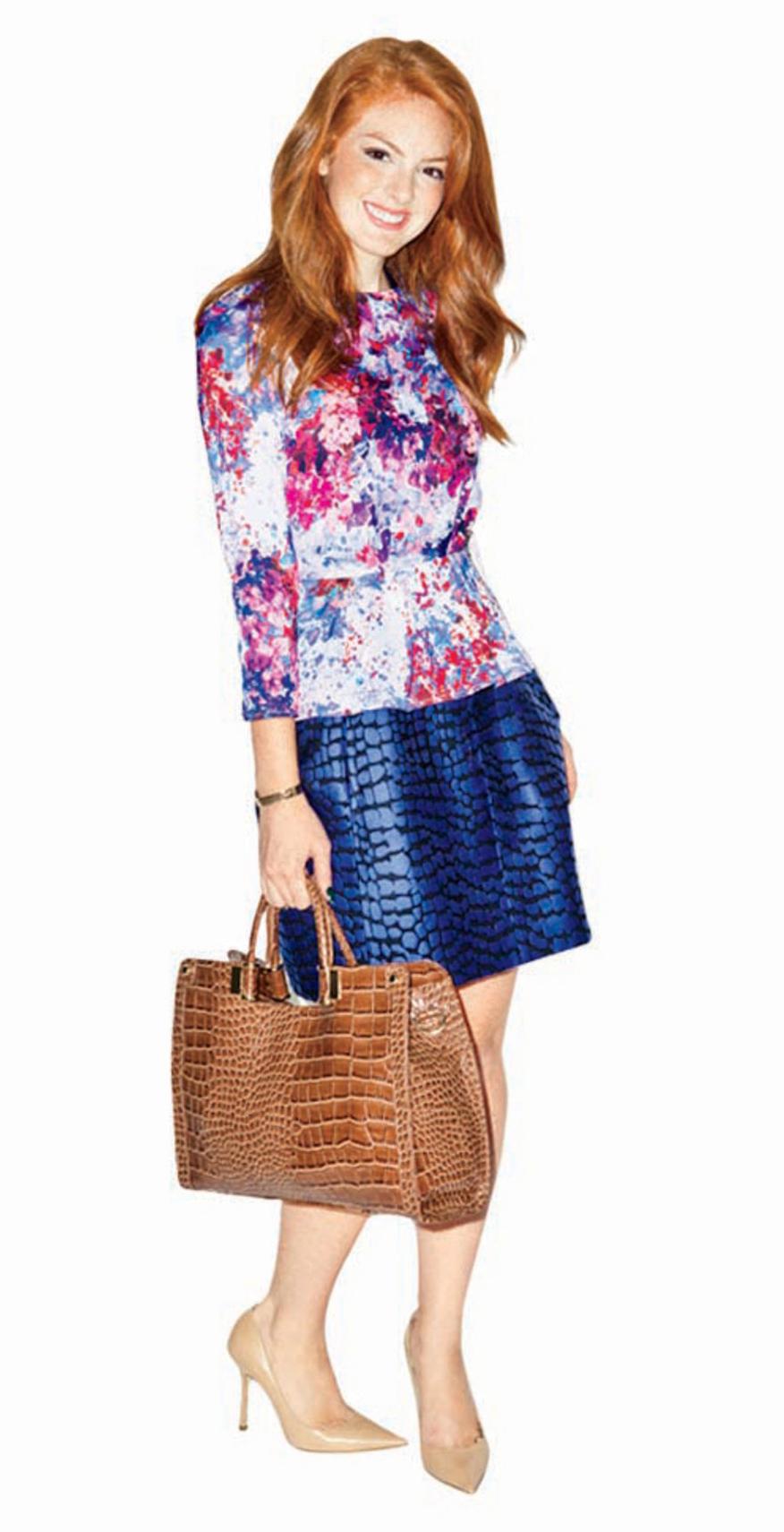 blue-navy-mini-skirt-r-pink-magenta-top-print-cognac-bag-tote-tan-shoe-pumps-howtowear-fashion-style-outfit-spring-summer-hairr-work.jpg