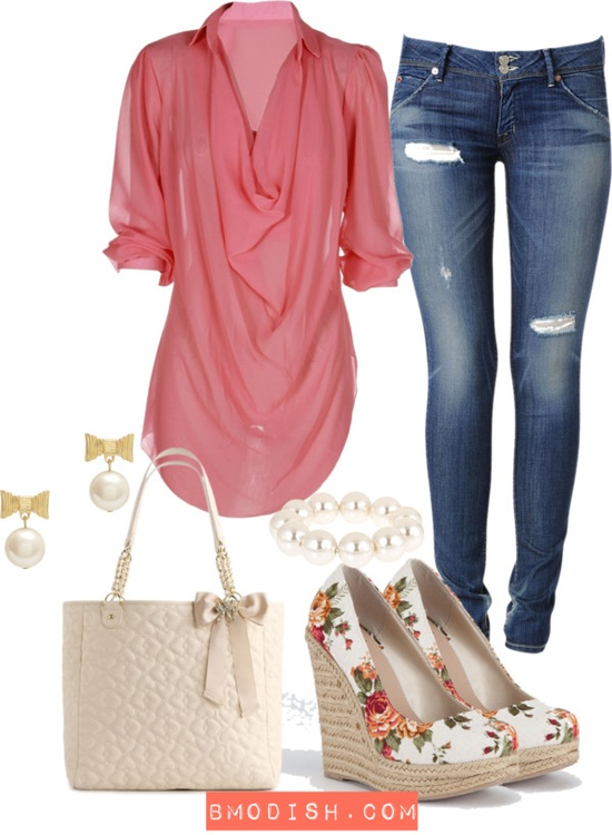 blue-navy-skinny-jeans-pink-magenta-top-blouse-pearl-earrings-bracelet-white-bag-white-shoe-pumps-floral-howtowear-fashion-style-outfit-spring-summer-lunch.jpg