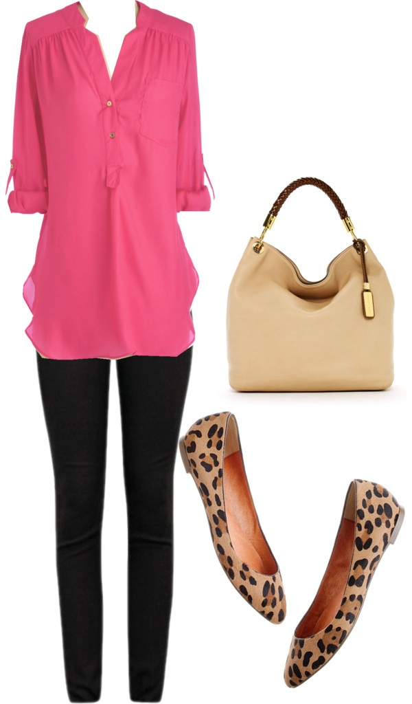 black-skinny-jeans-r-pink-magenta-top-blouse-howtowear-fashion-style-outfit-fall-winter-untucked-leopard-tan-shoe-flats-tan-bag-hobo-casualfriday-work.jpg