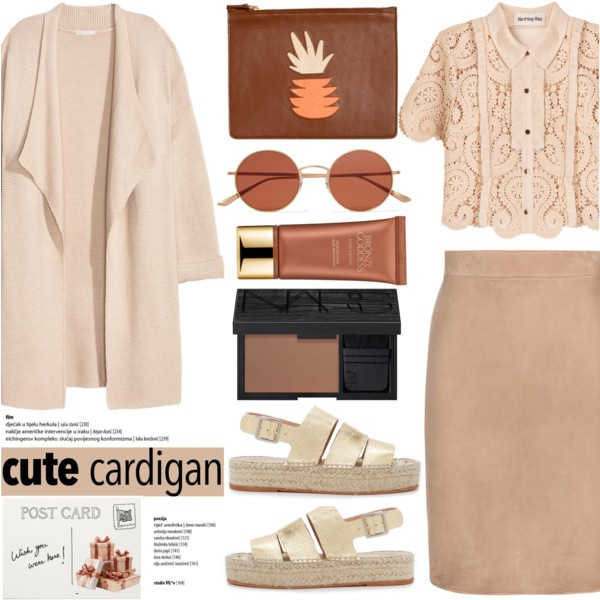 tan-pencil-skirt-tan-top-blouse-lace-tan-shoe-sandals-tan-cardiganl-sun-mono-spring-summer-weekend.jpg