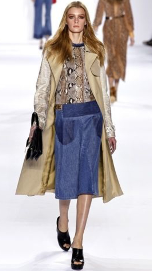 blue-med-midi-skirt-o-tan-top-tan-jacket-coat-trench-black-shoe-sandalw-slides-jean-snakeskin-wear-outfit-fall-winter-blonde-lunch.jpg
