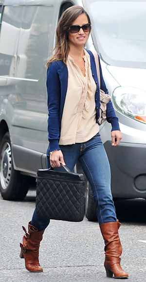 blue-navy-skinny-jeans-tan-top-blouse-hairr-pippamiddleton-cognac-shoe-boots-blue-navy-cardigan-fall-winter-weekend.jpg