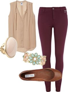 r-burgundy-skinny-jeans-o-tan-top-blouse-cognac-shoe-flats-bracelet-ring-howtowear-fashion-style-outfit-spring-summer-lunch.jpg