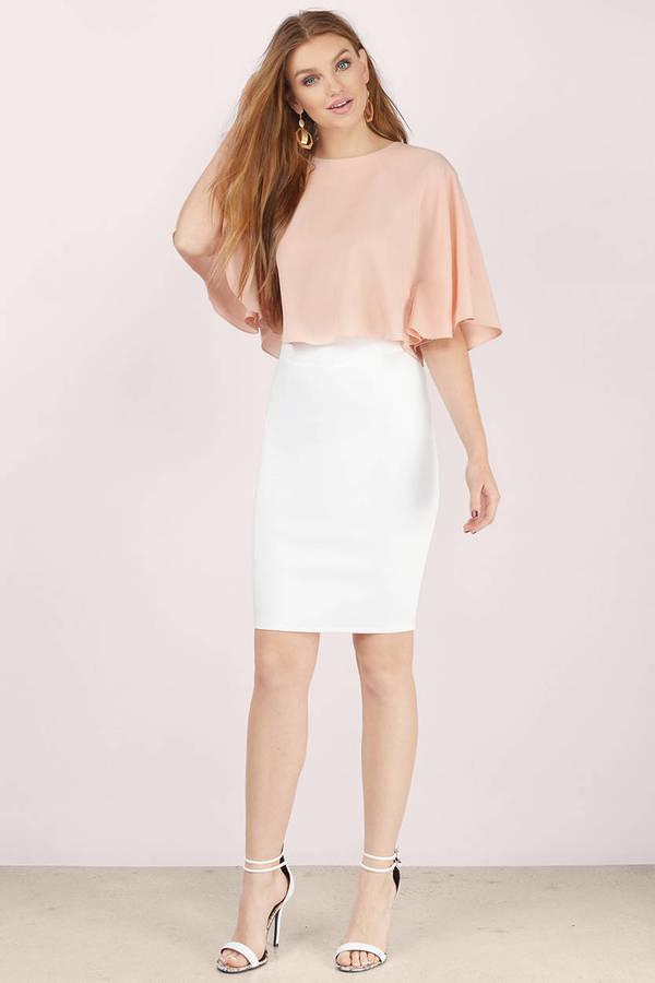 white-pencil-skirt-white-shoe-sandalh-earrings-blonde-peach-top-spring-summer-dinner.jpg