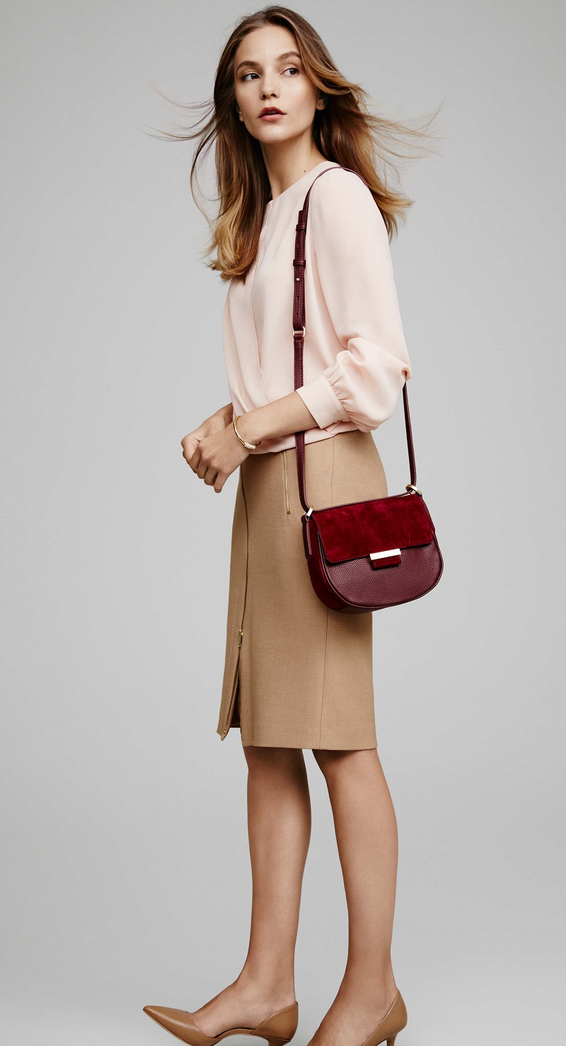 how-to-style-tan-pencil-skirt-burgundy-bag-peach-top-blouse-blonde-tan-shoe-pumps-fall-winter-fashion-work.jpg