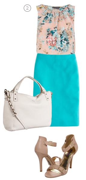 blue-med-pencil-skirt-o-peach-top-floral-print-white-bag-tan-shoe-sandalh-howtowear-fashion-style-outfit-spring-summer-work.jpg