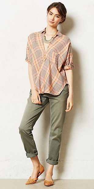 green-olive-chino-pants-o-peach-top-necklace-brun-bun-cognac-shoe-flats-spring-summer-wear-fashion-style-anthropologie-lunch.jpg