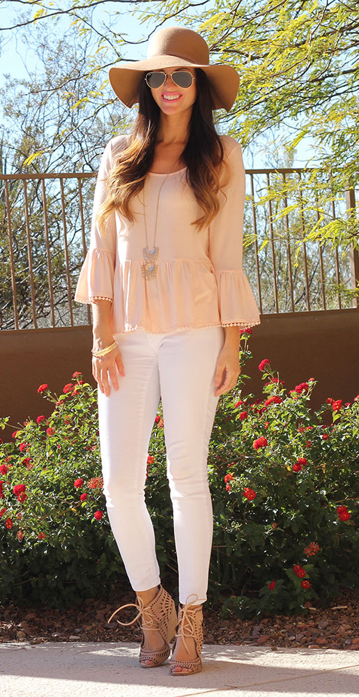 white-skinny-jeans-o-peach-top-necklace-pend-hat-sun-tan-shoe-sandalw-howtowear-fashion-style-outfit-spring-summer-hairr-lunch.jpg