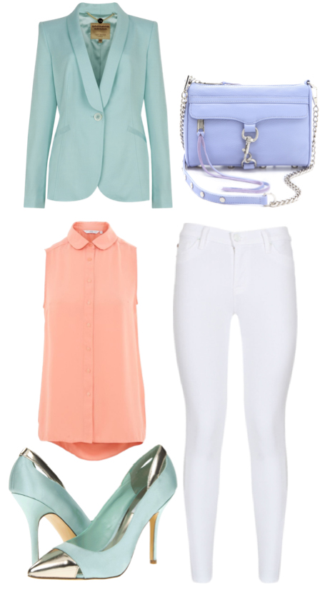 white-skinny-jeans-o-peach-top-blouse-green-light-jacket-blazer-purple-bag-green-shoe-pumps-howtowear-fashion-style-outfit-spring-summer-lunch.jpg