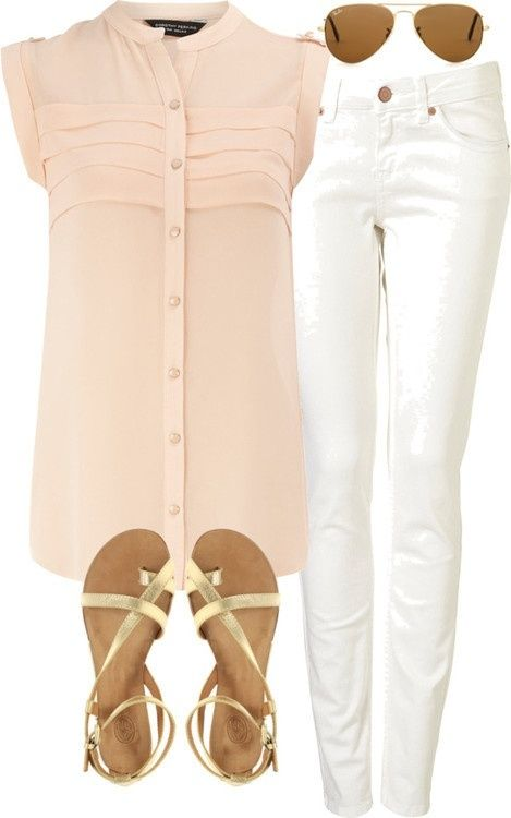 white-skinny-jeans-o-peach-top-blouse-sun-tan-shoe-sandals-howtowear-fashion-style-outfit-spring-summer-weekend.jpg