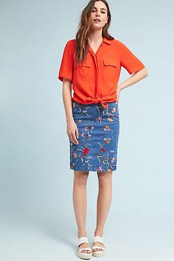 blue-med-pencil-skirt-orange-top-blouse-white-shoe-sandals-hairr-spring-summer-weekend.jpg