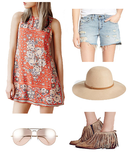 blue-light-shorts-orange-top-tunic-print-floral-hat-sun-tan-shoe-booties-fringe-howtowear-fashion-style-outfit-spring-summer-weekend.jpg
