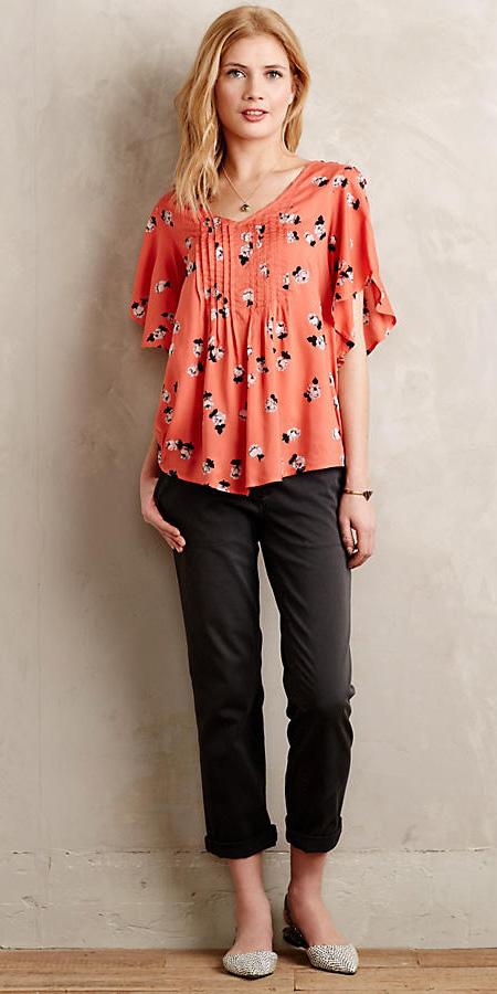 black-chino-pants-orange-top-print-white-shoe-flats-anthropologie-spring-summer-blonde-lunch.jpg