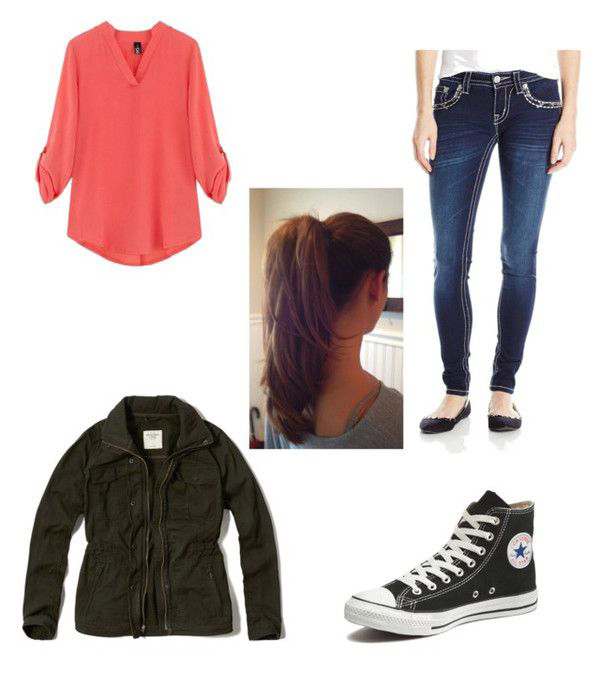 blue-navy-skinny-jeans-orange-top-blouse-green-olive-jacket-utility-black-shoe-sneakers-pony-howtowear-fashion-style-outfit-hairr-fall-winter-weekend.jpg